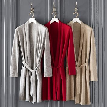 Cashmere Robe, Gray
