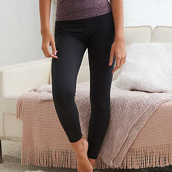 Aerie Move 7/8 Sunflower Lace Legging, True Black