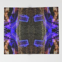 City Synthesis Throw Blanket by RichCaspian