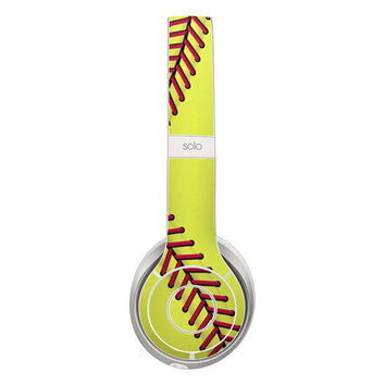 DecalGirl  Matte Finish Skin Kits FITS Beats Solo 2 HeadPhones - Softball by DecalGirl Collective - Headphones Not Included
