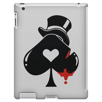 poker hat ace of spades iPad 3 and 4 Case