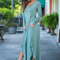 Nothing But Time Maxi Dress, Olive