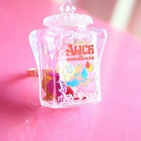 Alice in Wonderland bottle ring by lepetitebonbon on Etsy