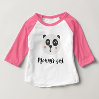 Happy Baby Panda Mommy's Girl Baby T-Shirt