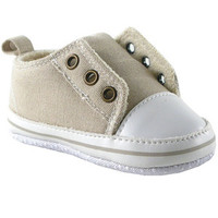 Luvable Friends Laceless Sneaker, Beige | Affordable Infant Clothing