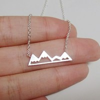 Chic Mountain Necklace - Silver, Gold & Rose Gold