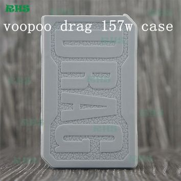 voopoo drag 157w case vape silicone case sleeve skin box mod Protective non-slip electronic cigarette cover 13colors 1pcs