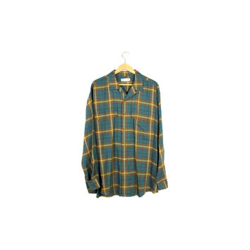 90s BANANA REPUBLIC wool + rayon flannel shirt - XL