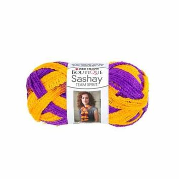 Purple & Gold Team Spirit Sashay Yarn ( Case of 36 )