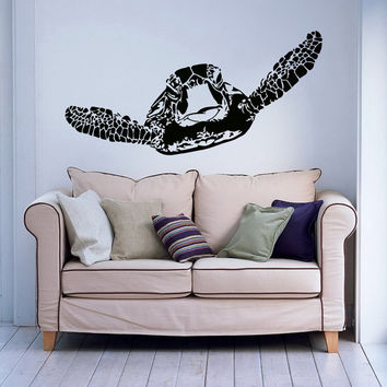 Sea Turtle Wall Decal Turtle Wall Decal Tortoise Tortoiseshell Sea Ocean Animal Wall Decals