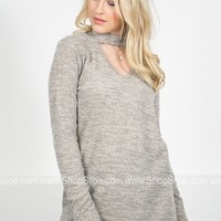 Grey Skies Mock Sweater