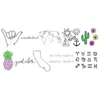 Wanderlust Pack Temporary Tattoos