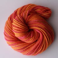 Koi Fish - Bulky Alpaca and Wool Blend Hand-Dyed Yarn - 110 Yards / 100g