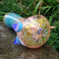 Malibu Rhino Glass Pipe - Handblown Smoking Tobacco Pipe - Handmade in USA by FlabbaGlass Designs