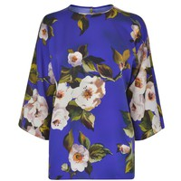 Floral Charmeuse Blouse