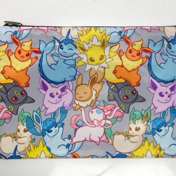 Pokemon Eeveelution Double Sided Zip Bag