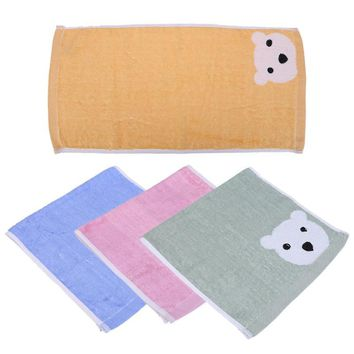 Baby Hand Face Towel Infant Bear Pattern Breathable Wipe Cloth Kids Children Clean Towel Cute Baby Feeding Bathing Washing Towel