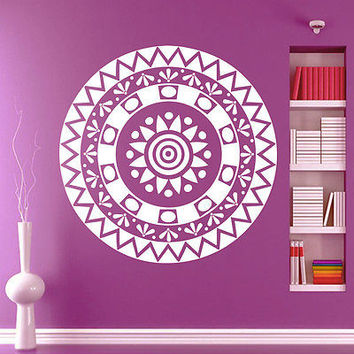 Wall Decals Mandala Om Yoga Decal Fashion Bedroom Decor Boho Sticker Vinyl MR376