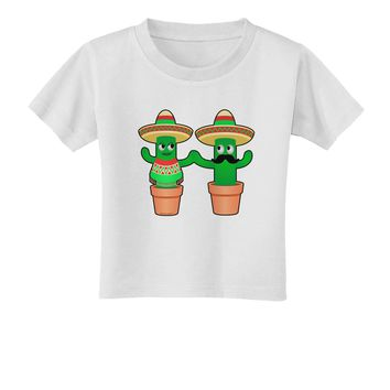 Fiesta Cactus Couple Toddler T-Shirt by TooLoud