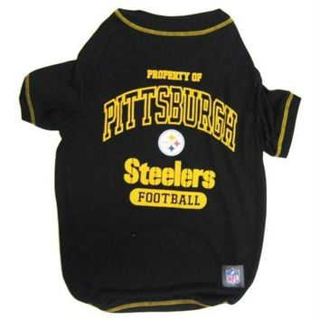 DCCKT9W Pittsburgh Steelers Dog T-Shirt