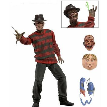 "NECA A Nightmare on Elm Street Freddy Krueger 30th PVC Action Figure Collectible Toy 7"" 18CM"