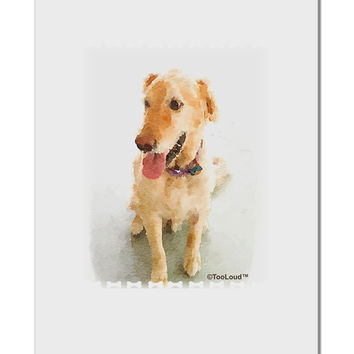 "Golden Retriever Watercolor Aluminum 8 x 12"" Sign"