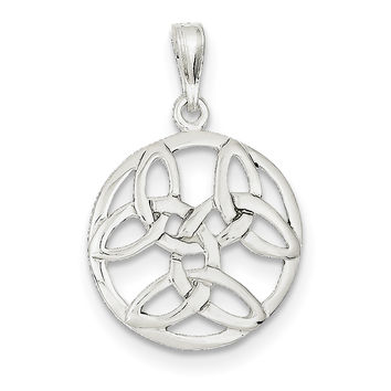 Sterling Silver Celtic Knot Pendant QC3876