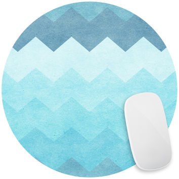 Chevron Waves Mouse Pad Decal