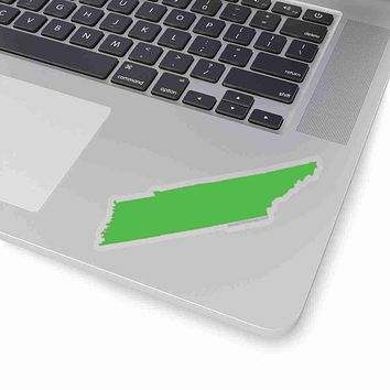 Tennessee State Shape Sticker GREEN
