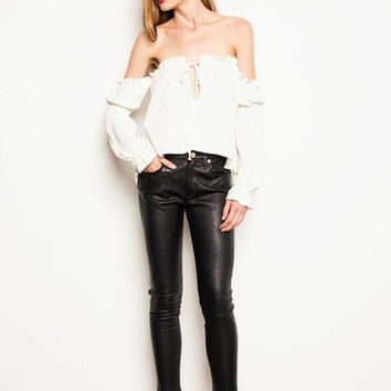 Nate Blouse - White | Stone Cold Fox