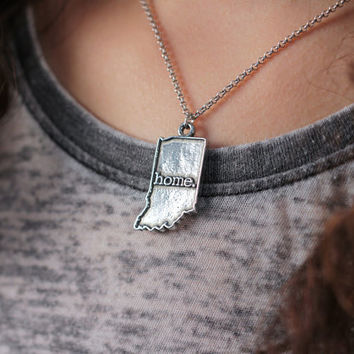 Indiana Necklace - Home State Apparel Indiana Home Necklace Charm