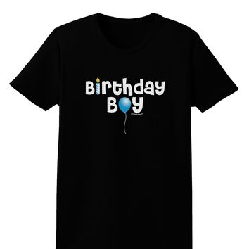Birthday Boy - Candle and Balloon Womens Dark T-Shirt by TooLoud