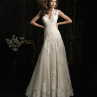 Fashion new wedding dress small trowel back to the back of the gauze lace strap wedding dress