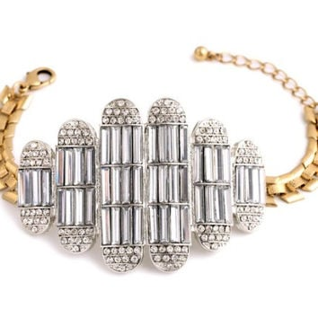 Burj Crystal Statement Bracelet
