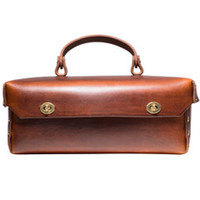 Handmade Leather Tool Box (Brown)