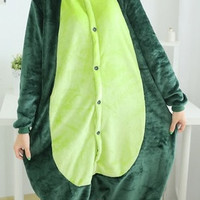 New 2016 Dinosaur Cosplay Costume Animal Suits Onesuit Pyjamas Pajamas Sleepwear Party Dress One Piece = 1958005956
