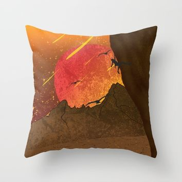 When The Red Moon Appears Throw Pillow by Berwies