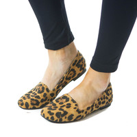 Ring Leader- Leopard Suede Flat