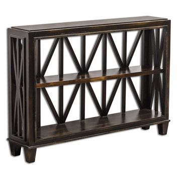 Asadel Wood Console Table By Uttermost