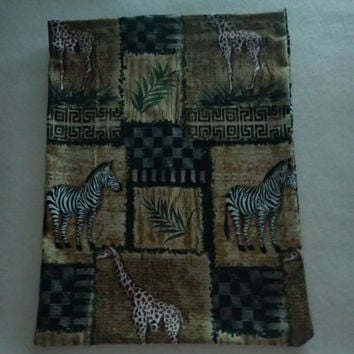 Lower Back Heating Pad, Cold Pack, Rice Heating Pad, Natural Heating Pad, African Animals, African Plains, Zebra, Giraffe, Ferns, Tribal