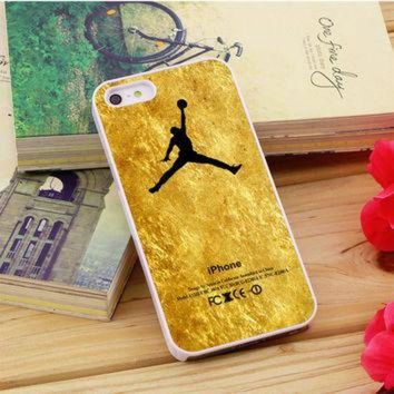 CREYUG7 Michael Jordan Golden Gold Pattern iPhone 5|5S|5C Case Auroid