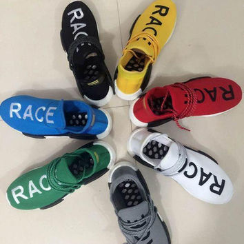 2017 Pharrell Williams X NMD Human Race Running Shoes NMD Runner NMD men and women Trainers Sneakers Boots Size 36-44 onle for sale