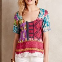 Caona Top by Plenty by Tracy Reese Blue Motif