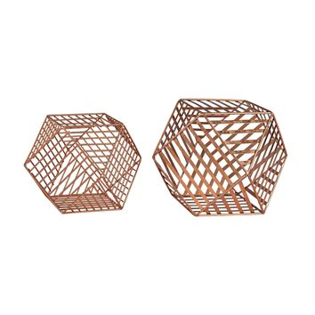 3138-256/S2 Copper Metallic Wire Dodecahedron