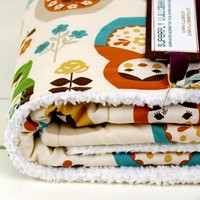 Supermarket: the modern-matryoshka baby blanket. from superfly lullabies
