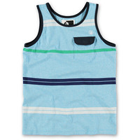 Volcom Boys Avenida Blue Stripe Pocket Tank Top