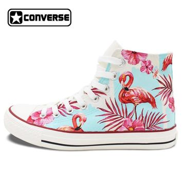 Pink Flamingo Painted Converse