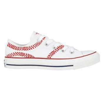 The Sports Brat Red Lace Converse Shoe