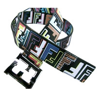 Fendi Zucca College Men's Belt 36