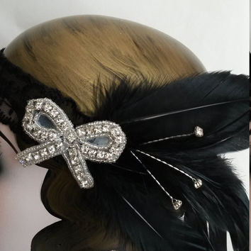Roaring 20s, art deco, winter wedding, Christmas party, great gatsby, headddress, headpiece, headband